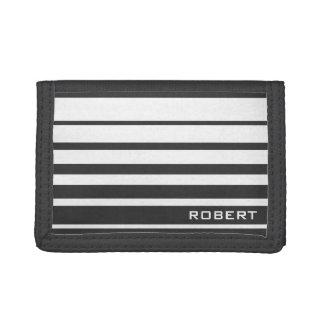 Monogram wallet for men | Custom sport stripes
