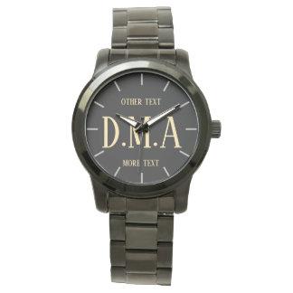 Monogram Watch Men Personalized Elegant Classy 14