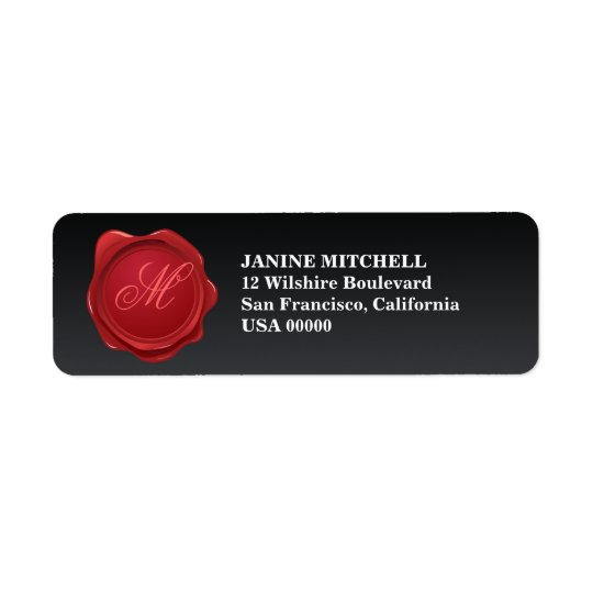 Monogram Wax Seal Address Label