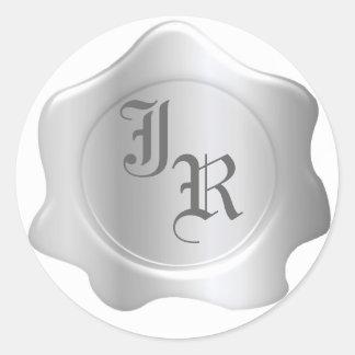 Monogram Wax Seal Wedding Stickers