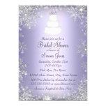 Monogram Wedding Cake Purple Bridal Shower Invite