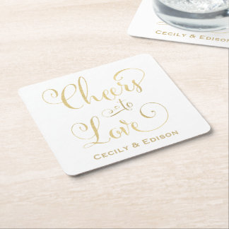 Monogram Wedding Coasters | Cheers to Love Design