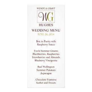 Monogram Wedding Logo Reception Menu Card