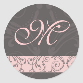 Monogram Wedding Sticker