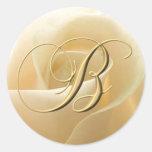 Monogram Wedding Stickers - letter B