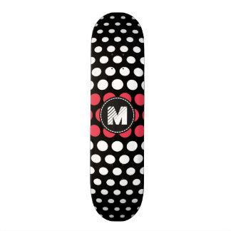 Monogram White & Desire Polka Dots Pattern Skate Decks