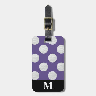 Monogram White Golf Balls, Ultra Violet Luggage Tag