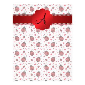 Monogram white ladybugs hearts 21.5 cm x 28 cm flyer