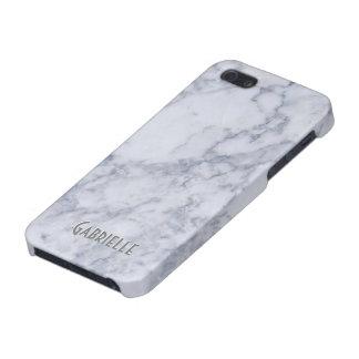 Monogram White Marble Stone Pattern iPhone 5/5S Case