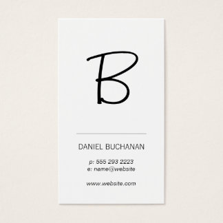 Monogram / White / Minimal Business Card