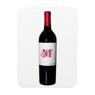 Monogram Wine Bottle Flexi Magnet