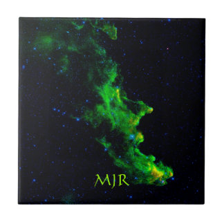 Monogram, Witch Head Nebula outer space image Tile