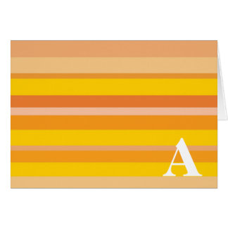 Monogram with a Colorful Striped Background - A Greeting Card