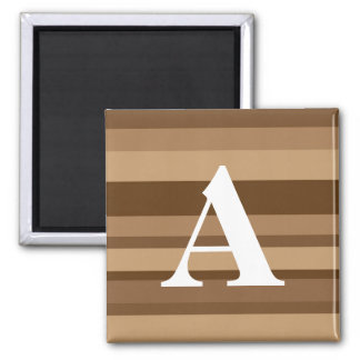 Monogram with a Colorful Striped Background - A Magnet