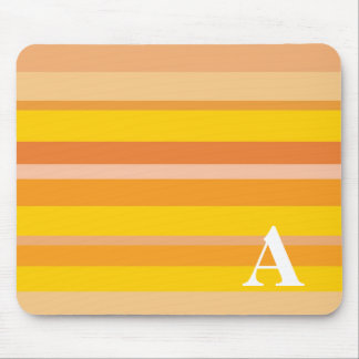 Monogram with a Colorful Striped Background - A Mouse Mats