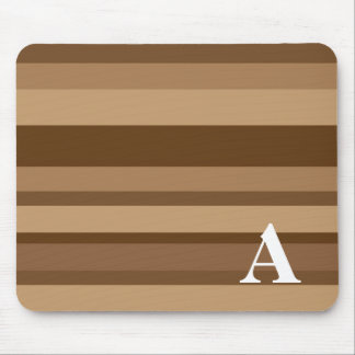Monogram with a Colorful Striped Background - A Mouse Pad