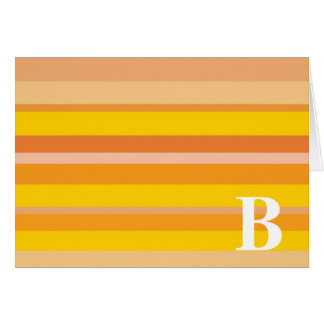Monogram with a Colorful Striped Background - B Cards