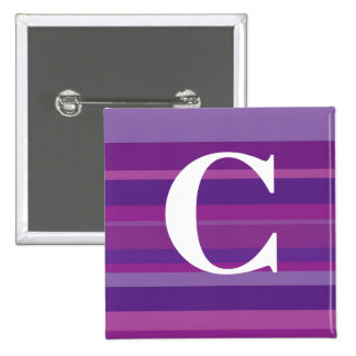 Monogram with a Colorful Striped Background - C Buttons