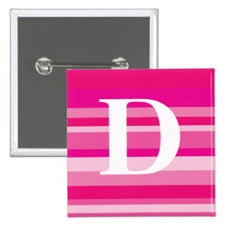 Monogram with a Colorful Striped Background - D Pins