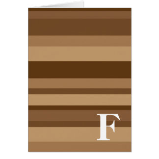 Monogram with a Colorful Striped Background - F Greeting Card
