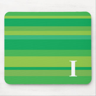 Monogram with a Colorful Striped Background - I Mouse Pad
