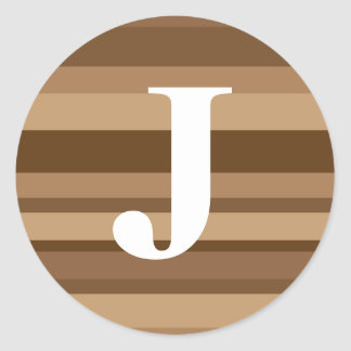 Monogram with a Colorful Striped Background - J Stickers