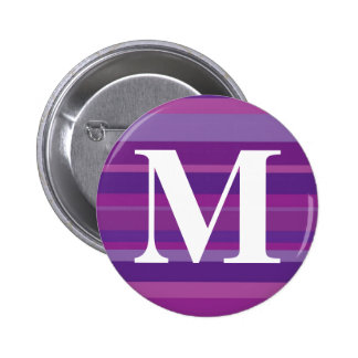 Monogram with a Colorful Striped Background - M 6 Cm Round Badge