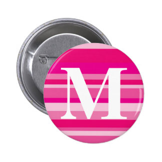 Monogram with a Colorful Striped Background - M Buttons