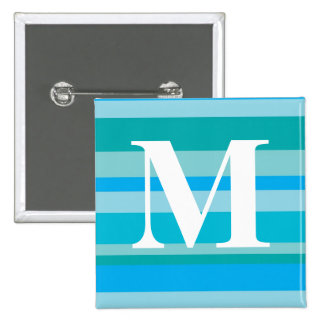 Monogram with a Colorful Striped Background - M Pins