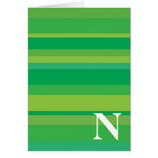 Monogram with a Colorful Striped Background - N Cards