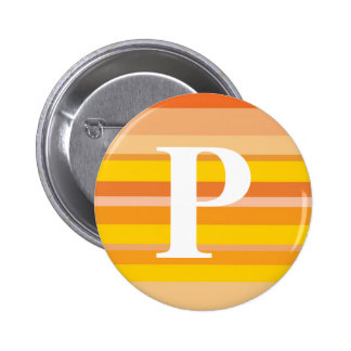 Monogram with a Colorful Striped Background - P Pins