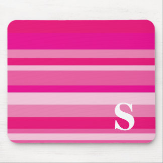 Monogram with a Colorful Striped Background - S Mouse Mat
