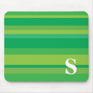 Monogram with a Colorful Striped Background - S Mouse Pads