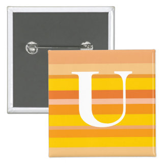 Monogram with a Colorful Striped Background - U Buttons