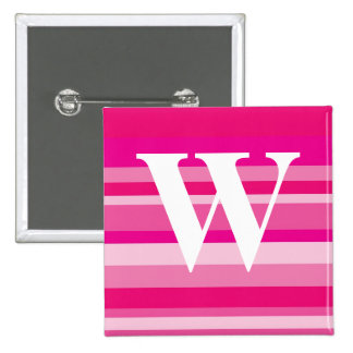 Monogram with a Colorful Striped Background - W Pins