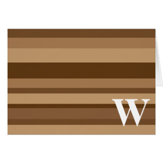 Monogram with a Colorful Striped Background - W Greeting Card