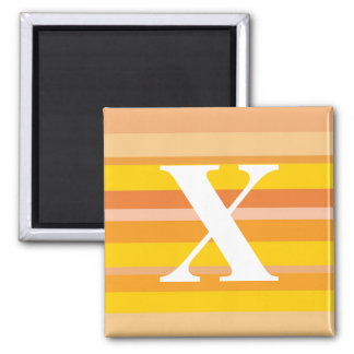 Monogram with a Colorful Striped Background - X Magnets