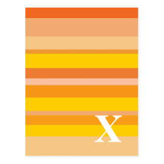 Monogram with a Colorful Striped Background - X Post Cards