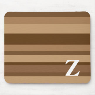 Monogram with a Colorful Striped Background - Z Mouse Pads