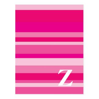 Monogram with a Colorful Striped Background - Z Postcard