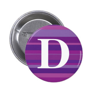 Monogram with a Colourful Striped Background - D 6 Cm Round Badge