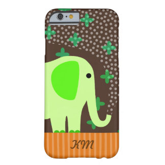 Monogram with Elephant Barely There iPhone 6 Case