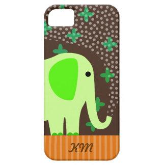 Monogram with Elephant iPhone 5 Case