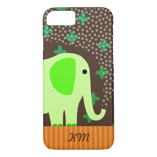 Monogram with Elephant iPhone 7 Case