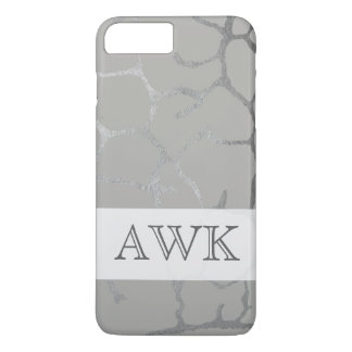 Monogram with lux gray and swank pattern iPhone 8 plus/7 plus case