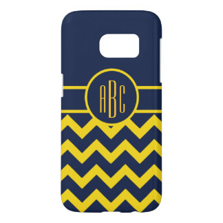 Monogram with Maize and Blue Design