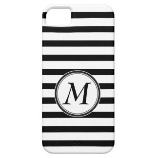 Monogram with Stripes iPhone 5 Covers