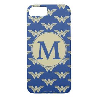 Monogram Wonder Woman Logo Pattern iPhone 8/7 Case
