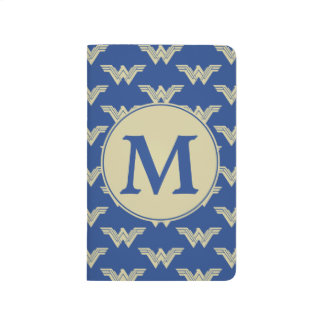 Monogram Wonder Woman Logo Pattern Journal