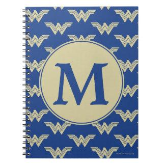 Monogram Wonder Woman Logo Pattern Notebook